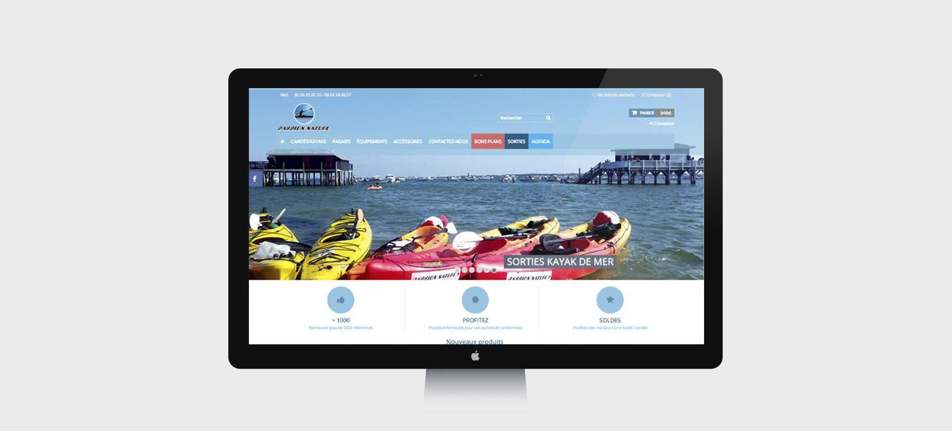 site ecommerce kayak