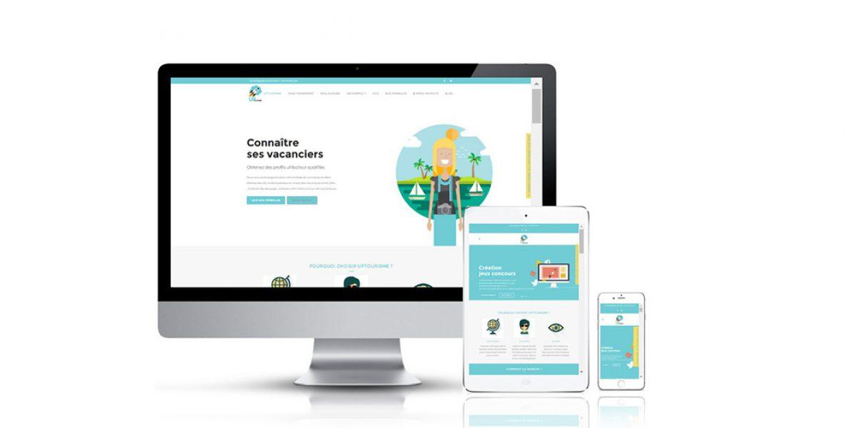 site uptourisme responsive