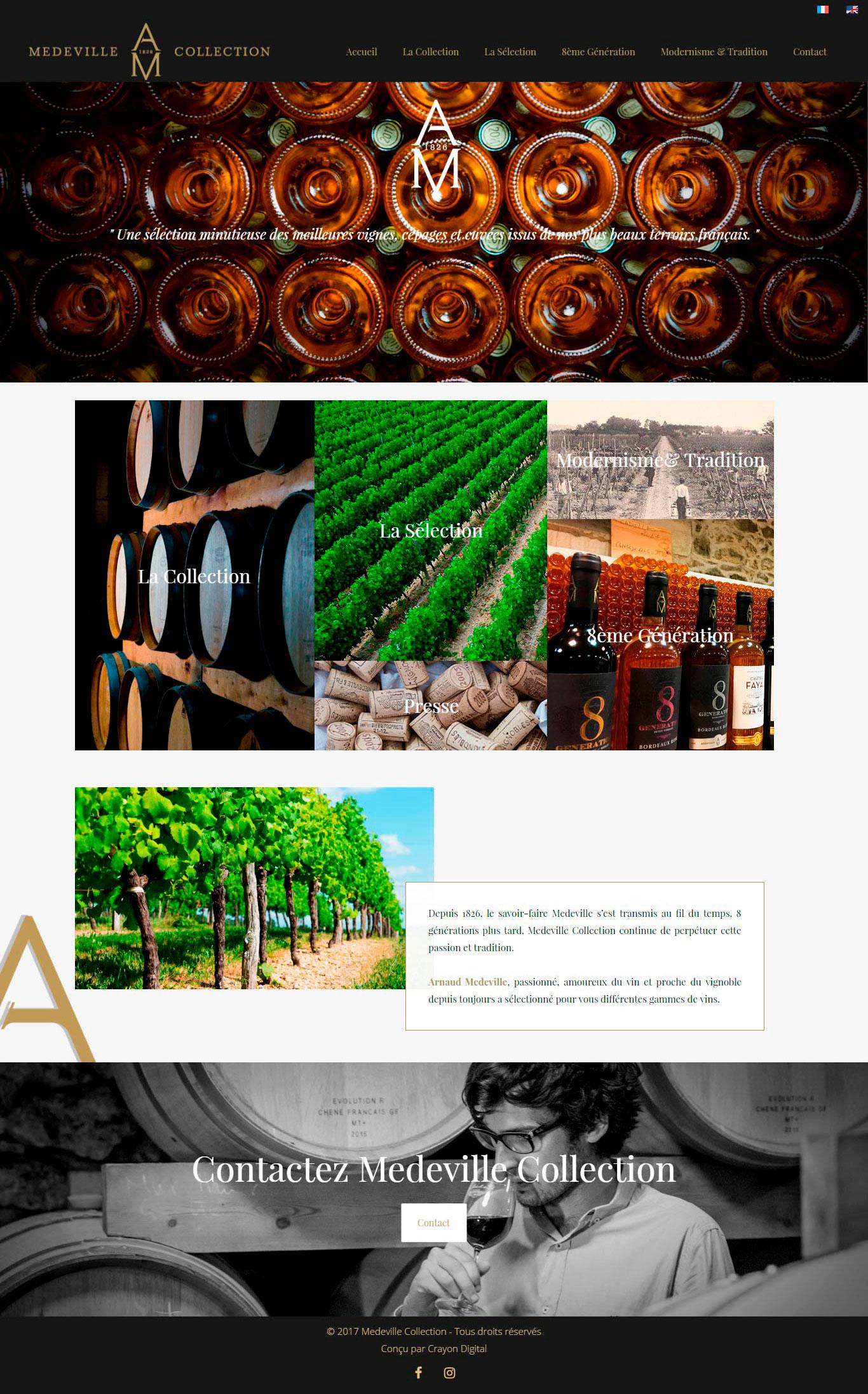 Site web vin
