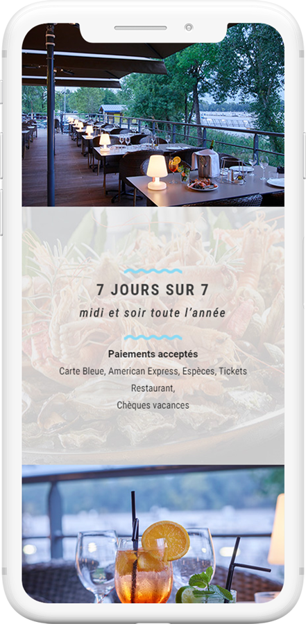 site web mobile restaurant