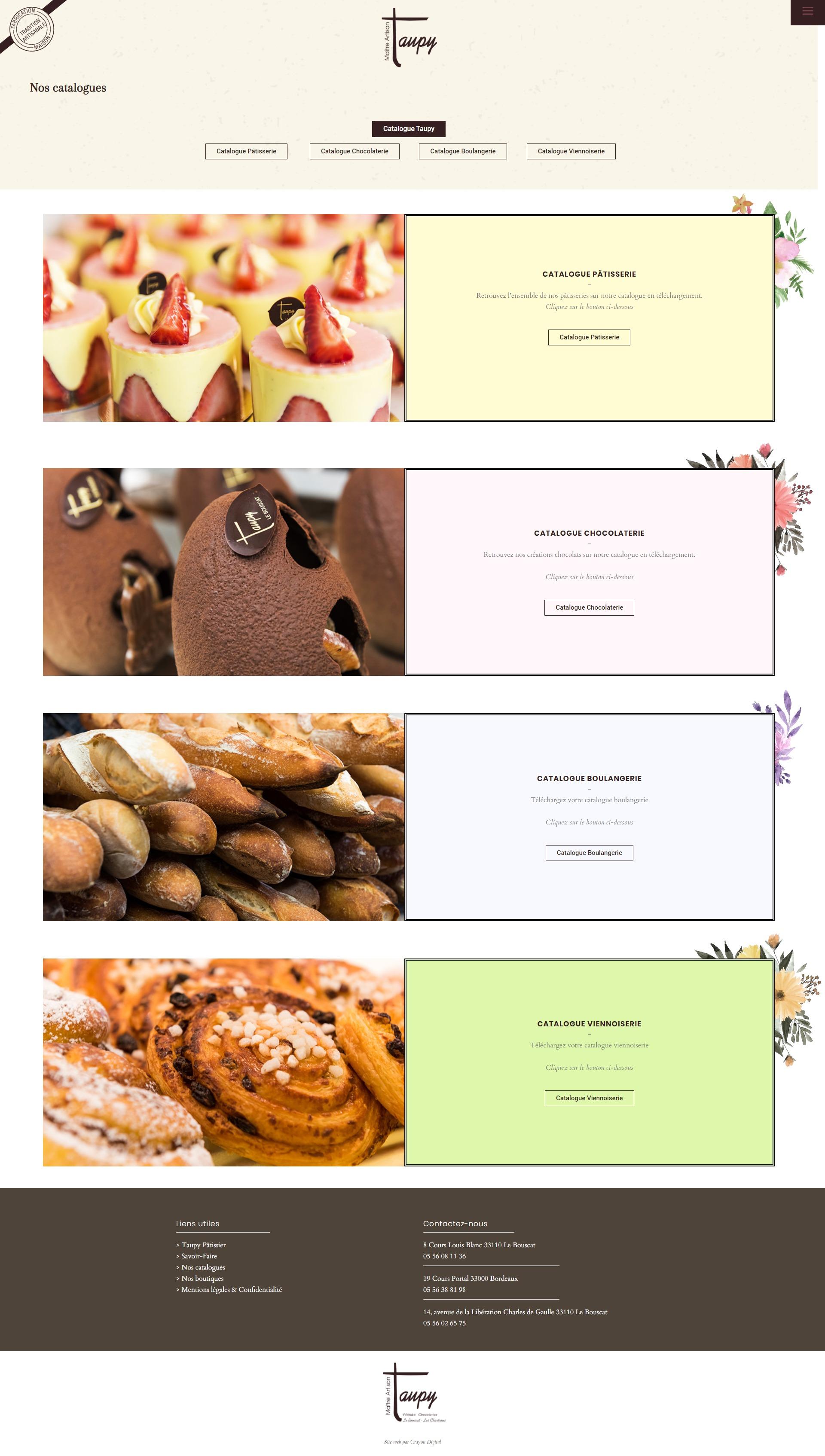 taupy chocolatier site web